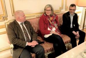 Mit Botschafterin Plassnik 2015 in Paris